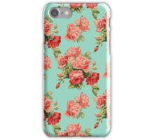 Vintage Rose Flower Pattern iPhone Case/Skin