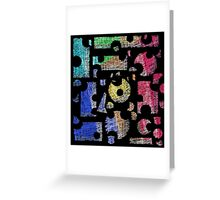 Colorful puzzle  Greeting Card
