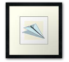 Paper Airplane 14 Framed Print