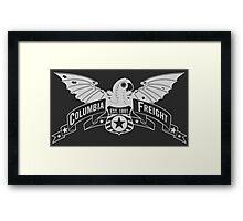 Bioshock Infinite - Columbia Freight (White) Framed Print