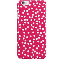 Cute Pink and White Polka Dots iPhone Case/Skin