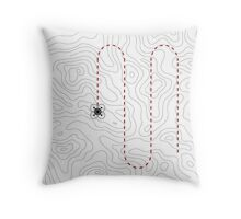 Drone mapping Throw Pillow