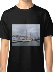 Grey Skies And White Boats...........................Bangor Classic T-Shirt