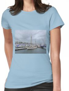 Grey Skies And White Boats...........................Bangor Womens Fitted T-Shirt