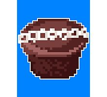 Pixel Food Series - Chocolate Cupcake Photographic Print