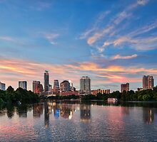 Austin Sunset Skyline by Tod and Cynthia Grubbs