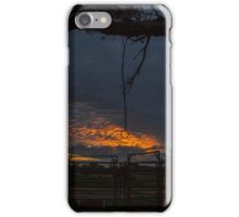 Sunset at the Cattle Yard - Kilcowera Station iPhone Case/Skin