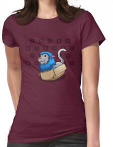 Derpkitty sits Womens Fitted T-Shirt