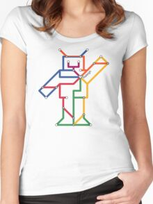 Robot: Raleigh Women's Fitted Scoop T-Shirt