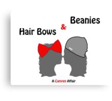 Hair Bows and Beanies Canvas Print