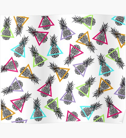 Pineapples & Triangles Poster