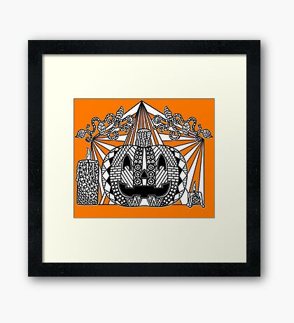 Untitled Jack-o'-lantern Framed Print