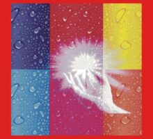 magical hands,energy,healer,abstract composition,contemporary art,water droplets,hand,multi color squares, Kids Tee