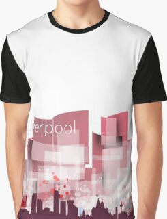 Liverpool red skyline  Graphic T-Shirt