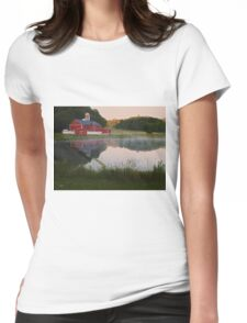 Morning Reflection Womens Fitted T-Shirt