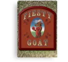 Fiesty Goat Canvas Print