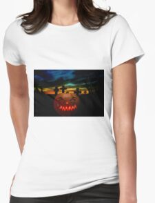 Halloween Fright Night Womens Fitted T-Shirt