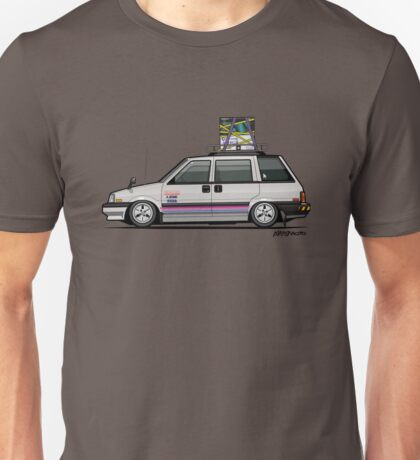 Nissan Prairie Stanza Multi Wagon 4WD Retro Gamer Unisex T-Shirt