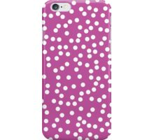 Cute Magenta and White Polka Dots iPhone Case/Skin