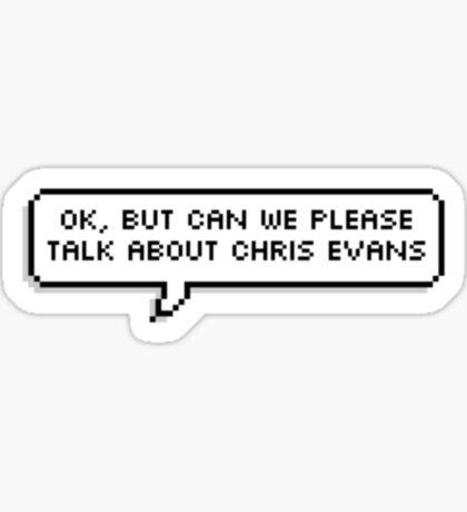 ok, but can we talk about chris evans Sticker