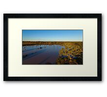 Cardenyabba Lagoon from the Air - Kilcowera Station Framed Print