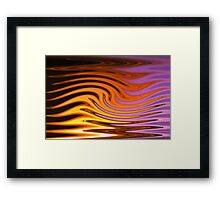 Flame and Fire Vector - Colorful Background Framed Print