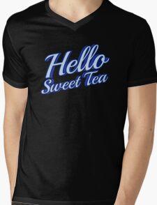 Hello Sweet Tea - Tri-Color Mens V-Neck T-Shirt