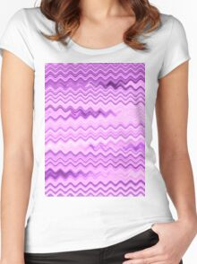 Purple Background - Colorful Patterns Women's Fitted Scoop T-Shirt