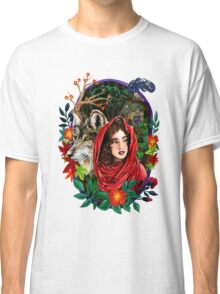 Little Red Watercolor Sticker Classic T-Shirt