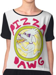 Pizza Dawg Chiffon Top