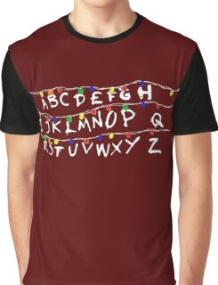 Strange Christmas Light and Weird Things Holiday Art Graphic T-Shirt