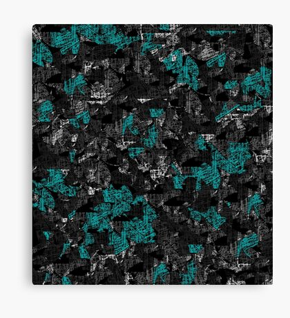 Blue and gray abstract art Canvas Print