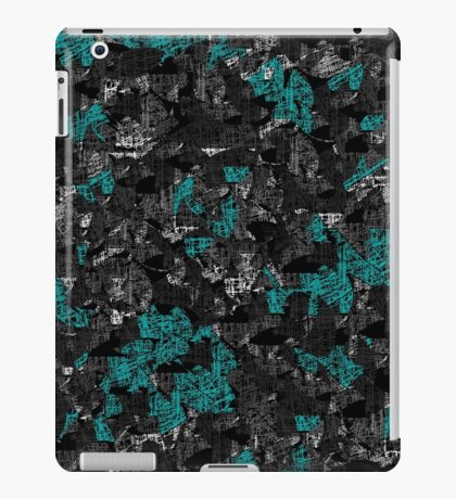 Blue and gray abstract art iPad Case/Skin
