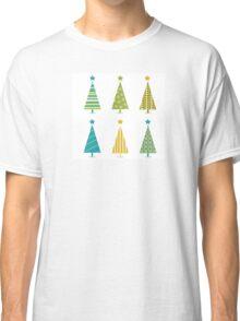 Funky retro christmas tree design. In six shape variants! Vector illustration Classic T-Shirt