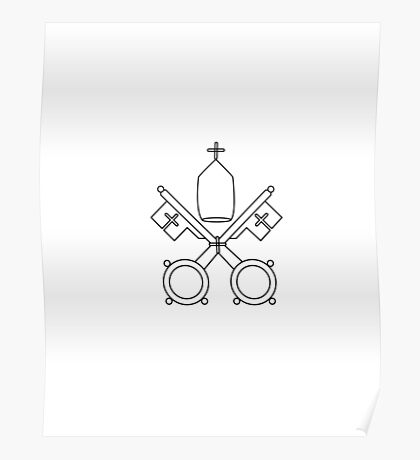 Vatican City Coat of Arms Poster