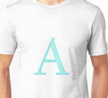 Teal Letter A - Alpha Unisex T-Shirt