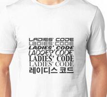LADIES' CODE Fonts Unisex T-Shirt