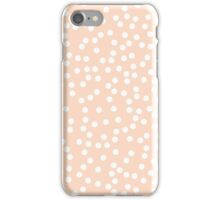 Cute Peach and White Polka Dots iPhone Case/Skin
