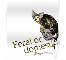 Feral or Domestic collage by Georgie Watts Poster