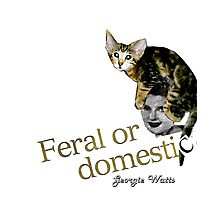 Feral or Domestic collage by Georgie Watts Photographic Print