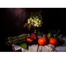 Asparagus & Fruit Photographic Print