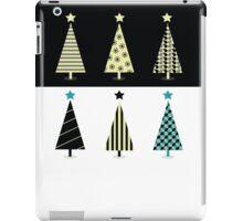Black & white christmas tree design iPad Case/Skin