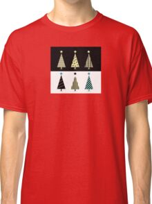 Black & white christmas tree design Classic T-Shirt