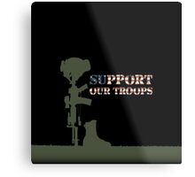 Support our Troops - Fallen Soldier Metal Print