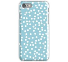 Cute Baby Blue and White Polka Dot iPhone Case/Skin