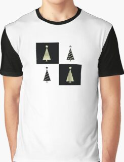 Black and white christmas trees. Geometric christmas trees in 2 colors Graphic T-Shirt
