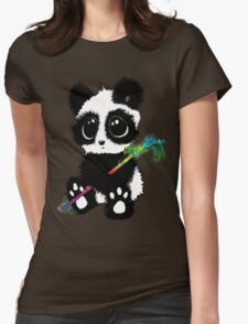 Adorable Panda Womens Fitted T-Shirt