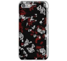 Red, white and black abstract art iPhone Case/Skin
