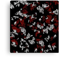 Red, white and black abstract art Canvas Print
