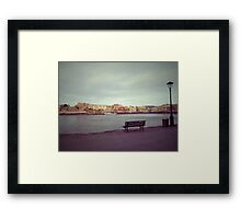 Chania old harbour Framed Print